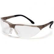 Pyramex Rendezvous Safety Glasses - Crystal Gray Frame - Clear Anti-Fog Lens
