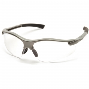 Pyramex Fortress Safety Glasses - Gray Frame - Clear Lens