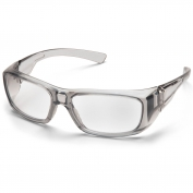 Pyramex Emerge Safety Glasses - Gray Frame - Clear Full Reader Lens