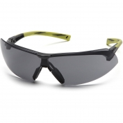 Pyramex Onix Safety Glasses - Black/Green Frame - Gray Anti-Fog Lens