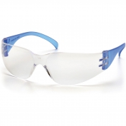 Pyramex Intruder Safety Glasses - Blue Temples - Clear Lens