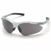 Pyramex Fortress Safety Glasses - Silver Frame - Gray Lens