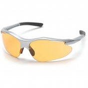Pyramex Fortress Safety Glasses - Silver Frame - Mango Lens