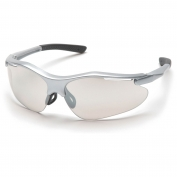 Pyramex Fortress Safety Glasses - Silver Frame - Indoor/Outdoor Mirror Lens