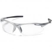 Pyramex Avante Safety Glasses - Silver Frame - Clear Lens