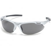 Pyramex Avante Safety Glasses - Silver Frame - Gray Lens