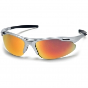 Pyramex Avante Safety Glasses - Silver Frame - Orange Mirror Lens