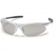 Pyramex Avante Safety Glasses - Silver Frame - Indoor/Outdoor Mirror Lens