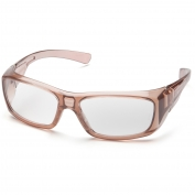Pyramex STC7910D Emerge Safety Glasses - Translucent Caramel Frame - Clear Full Reader Lens