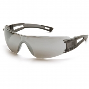 Pyramex Endeavor Safety Glasses - Gray Temples - Silver Mirror Lens