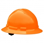 Radians QHP6 Quartz Full Brim Hard Hat - 4-Point Pinlock Suspension - Hi-Viz Orange