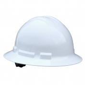 Radians QHR4 Quartz Full Brim Hard Hat - 4-Point Ratchet Suspension - White