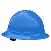 Radians QHR6 Quartz Full Brim Hard Hat - 6-Point Ratchet Suspension - Blue