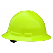 Radians QHR6 Quartz Full Brim Hard Hat - 6-Point Ratchet Suspension - Hi-Viz Green