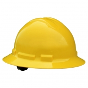 Radians QHR6 Quartz Full Brim Hard Hat - 6-Point Ratchet Suspension - Yellow