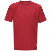 Bulwark FR QT30RD iQ Series Short Sleeve Tee - Red