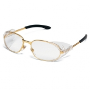 Crews R2110 RT2 Safety Glasses - Brass Frame - Clear Lens