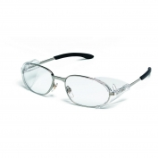Crews R2120 Rattler 2 Safety Glasses - Chrome Frame - Clear Lens
