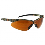 Radians APJ4-B1 Rad-Apocalypse Junior Safety Glasses - Small Camo Frame - Bronze Anti-Fog Lens