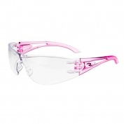 Radians Optima Safety Glasses - Pink Temples - Clear Lens