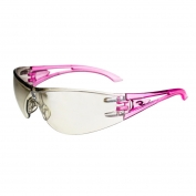 Radians Optima Safety Glasses - Pink Temples - Indoor/Outdoor Mirror Lens