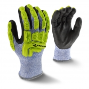 Radians RWG604 Cut Level A4 Cold Weather Work Gloves - Hi-Viz TPR Impact Protection
