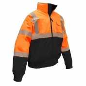 Radians SJ110B-3ZOS Class 3 Two-in-One Bomber Jacket - Orange/Black