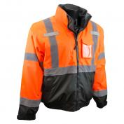 Radians SJ210B-3ZOS Class 3 Three-in-One Bomber Jacket - Orange/Black
