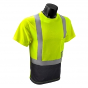 Radians ST11B Type R Class 2 Black Bottom Wicking Birdseye Mesh Safety Shirt - Yellow/Lime