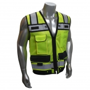 Radians SV65-2ZGM Class 2 Heavy Duty Surveyor Safety Vest - Yellow/Lime