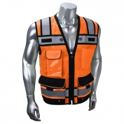 Radians SV65-2ZOM Type R Class 2 Heavy Duty Surveyor Safety Vest - Orange