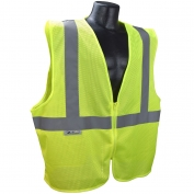 Radians SVE1 Class 2 Economy Safety Vest with No Pockets - Yellow/Lime