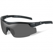Remington RE100 Shooting Glasses - Black Frame - Smoke Lens