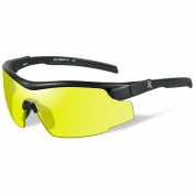 Remington RE102 Shooting Glasses - Black Frame - Yellow Lens