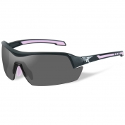 Remington RE200 Ladies Shooting Glasses - Black/Pink Frame - Smoke Lens