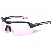 Remington RE201 Ladies Shooting Glasses - Black/Pink Frame - Light Pink Lens