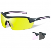 Remington RE203 Ladies Shooting Glasses Kit - Black/Pink Frame - Three Interchangeable Lenses