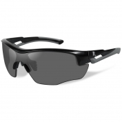 Remington RE300 Youth Shooting Glasses - Black/Gray Frame - Smoke Lens