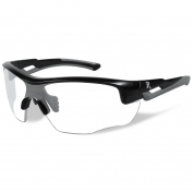 Remington RE301 Youth Shooting Glasses - Black/Gray Frame - Clear Lens