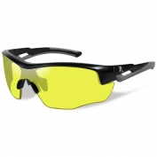 Remington RE302 Youth Shooting Glasses - Black/Gray Frame - Yellow Lens