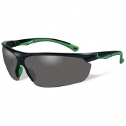 Remington RE500 Shooting/Safety Glasses - Black/Green Frame - Smoke Lens