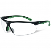 Remington RE501 Shooting/Safety Glasses - Black/Green Frame - Clear Lens