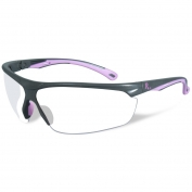 Remington RE601 Shooting/Safety Glasses - Gray/Pink Frame - Clear Lens