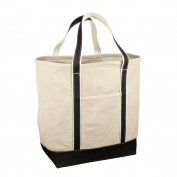 Red House RH34 Medium Heavyweight Canvas Tote - Black/Natural