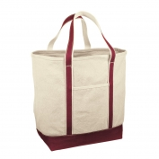 Red House RH34 Medium Heavyweight Canvas Tote - Maroon/Natural