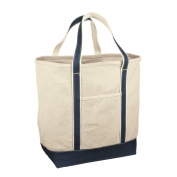 Red House RH34 Medium Heavyweight Canvas Tote - Navy/Natural