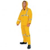 River City 2403R Luminator 3 Piece Reflective Rain Suit - Yellow