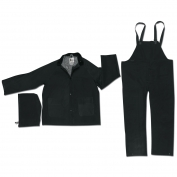 River City 2473 Classic Plus 3-Piece Rain Suit - Black