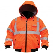 River City BP2CL3O Luminator Class 3 Two-in-One Bomber Jacket - Orange