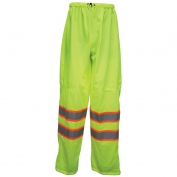 River City CLELC Luminator Class E Two Tone Mesh/Solid Safety Pants - Yellow/Lime